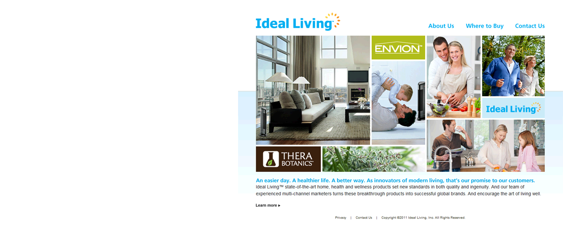 Ideal Living Website